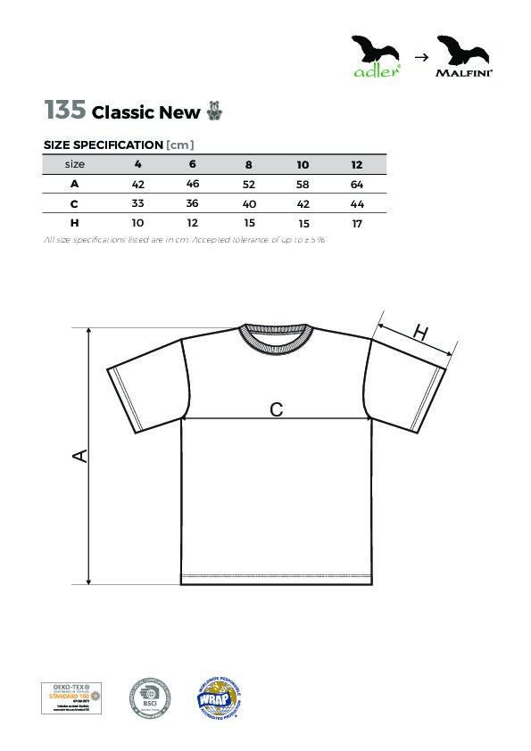 Classic New 135 Tričko dětské - Textil ADLER f610a63aa3