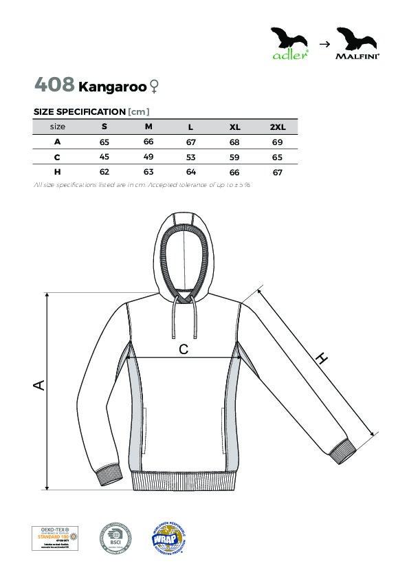 2606eea2a29 Kangaroo 408 Mikina dámská - Textil ADLER