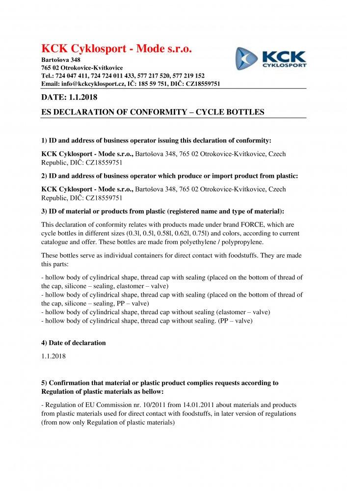 láhev FORCE STRIPE 0,75 l, fluo-černá