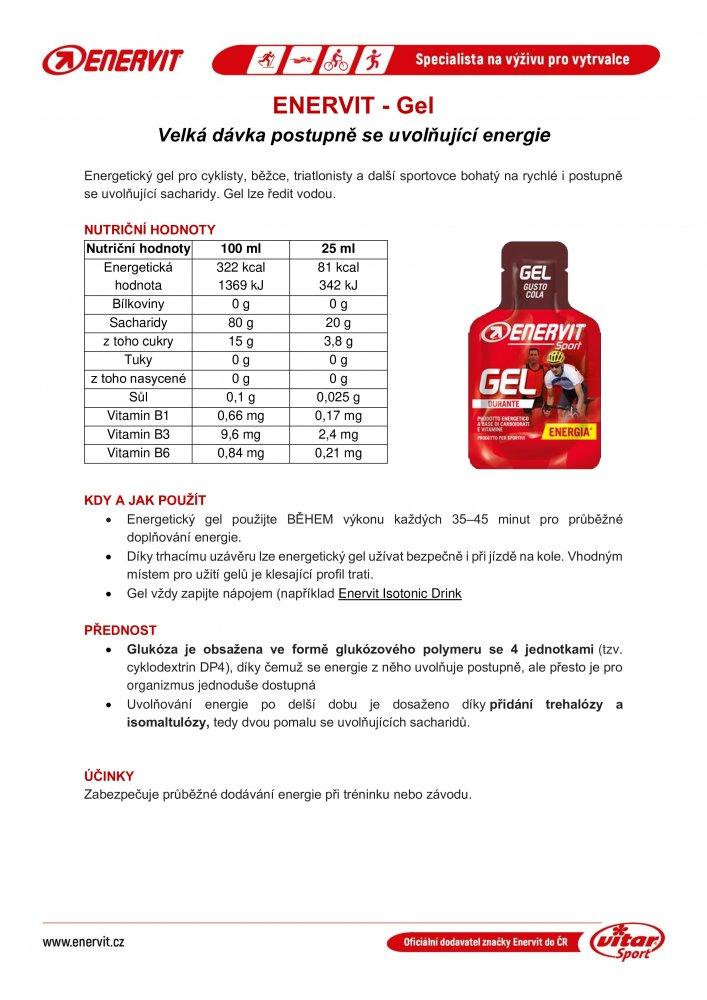 ENERVIT SPORT GEL 25ml cola