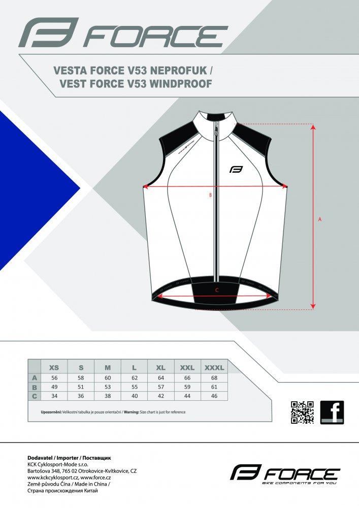 vesta FORCE V53 neprofuk, fluo-černá