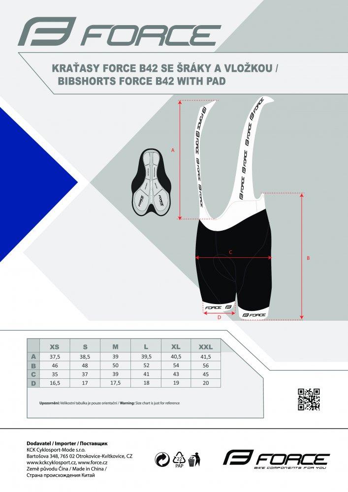kraťasy FORCE B42 se šráky a vložkou, černé