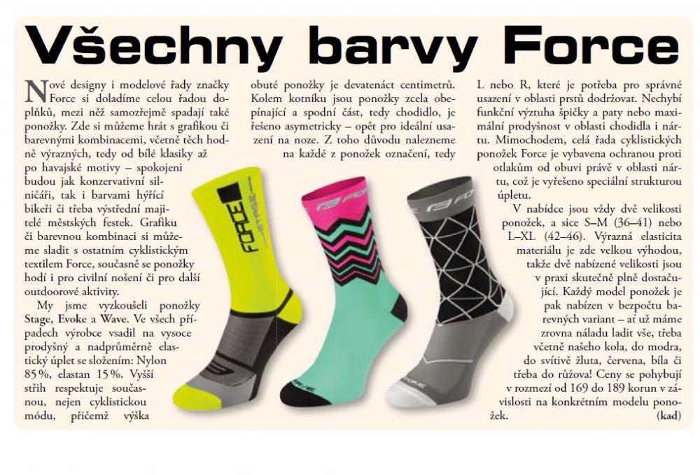 ponožky FORCE STAGE, bílo-černé