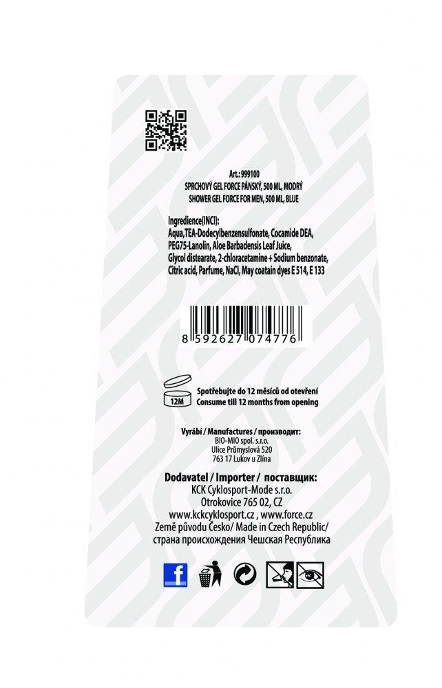 gel sprchový FORCE pánský, 500 ml